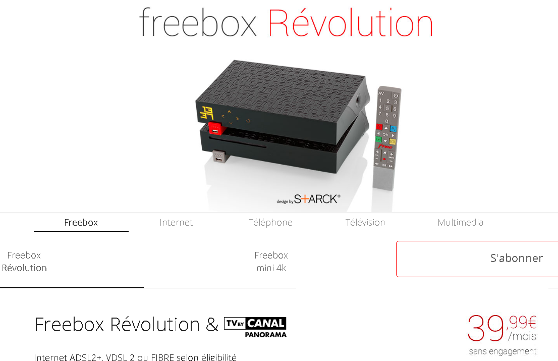 Free Met A Jour Son Site Web Freebox Revolution Tv By Canal